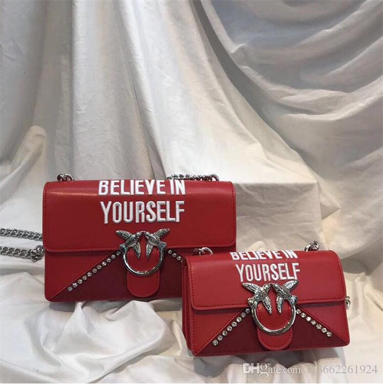 c52d64b4ea11 2018 Swallow Fashion Designer Luxury Bag Leather Shoulder Bag Women ...