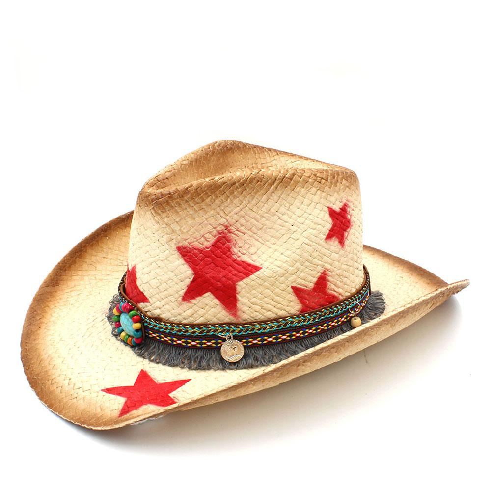 5f7da025e10 Fashion Women Western Cowboy Hat With Tassel Ribbon Star Fashion Lady  Sombrero Hombre Cowgirl Jazz Caps Size 58CM Boater Hat Fascinator Hats From  ...