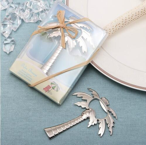 Adult Birthday Souvenir With Box Silver Palm Tree Bridal Party Favor