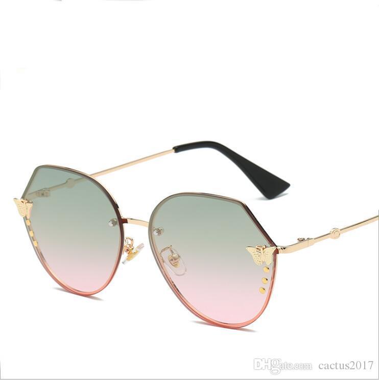 Acheter Marque Designer De Luxe Papillon Lunettes De Soleil Femmes 2018 Cat  Eye Mode Gradient Miroir Lunettes De Soleil Lunettes Eye Glasse De  7.42 Du  ... ab04a89162ef