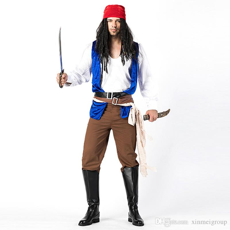 575f064267 Pirate Costume Adult Masquerade Cosplay Fancy Dress Carnival Halloween  Cosplay Costume For Men Carnival Party W158703B Princess Costumes Halloween  Costumes ...