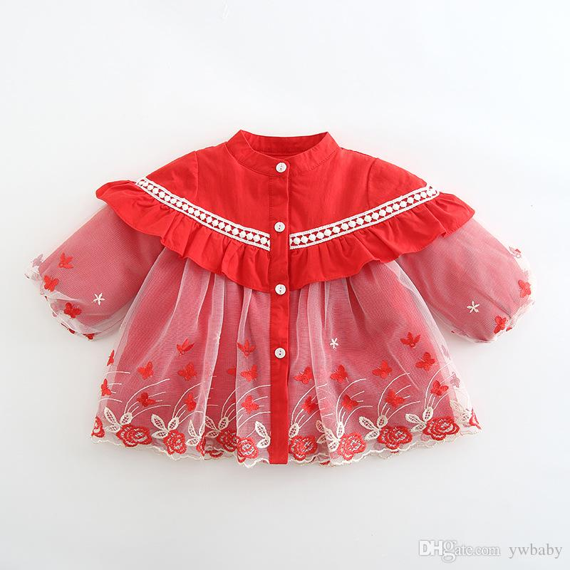 2018 girl christmas dresses kids clothing 2019 little baby girl embroidery flower dress kids winter party dress baby clothes from ywbaby 8684 dhgate