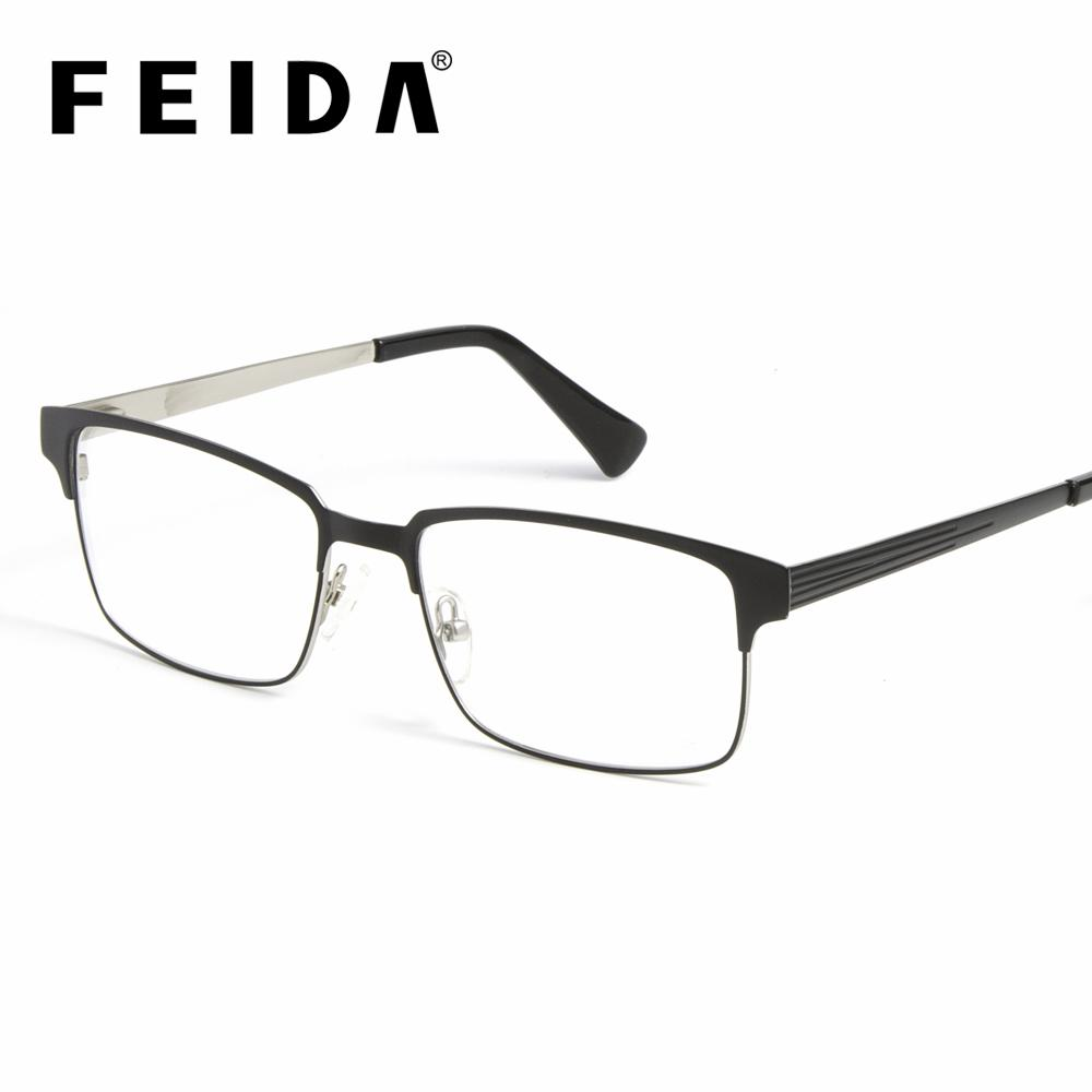 af43e9a45cf 2019 Men Women Ultralight Square Myopia Prescription Eyeglasses Frame 2018 Male  Metal Half Optical Frame Acetate Metal Clear Glasses From Mantous