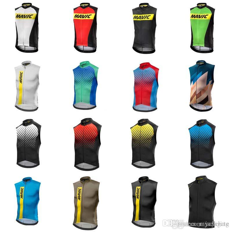 MAVIC team Cycling Sleeveless jersey Vest summer style quick dry mtb bike sportswear for men D0814