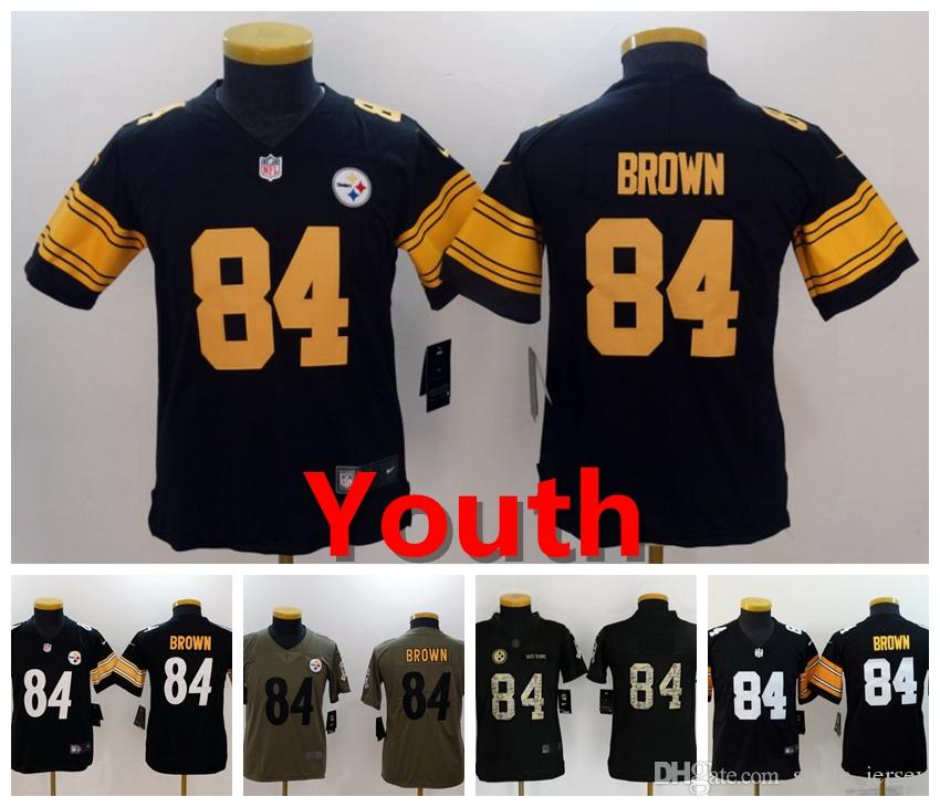 2019 Youth 84 Antonio Brown Pittsburgh Jersey Steelers Kids Football ... c82dea392