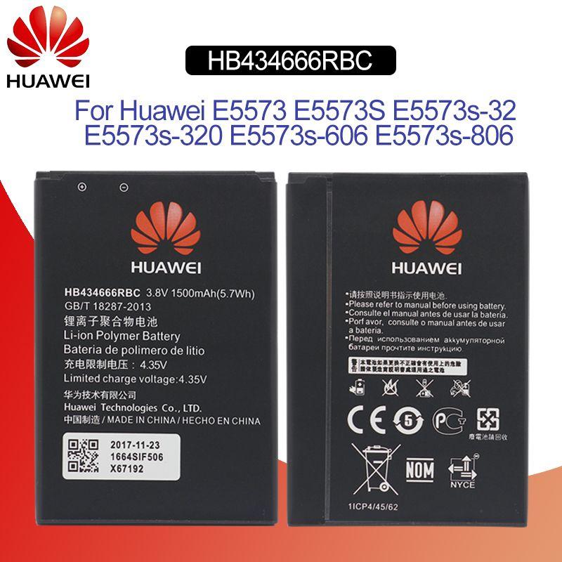 HuaWei Phone Battery HB434666RBC For Huawei E5573 E5573S E5573s-32  E5573s-320 E5573s-606 E5573s-806 Replacement Batteries 1500mAh Free Tools