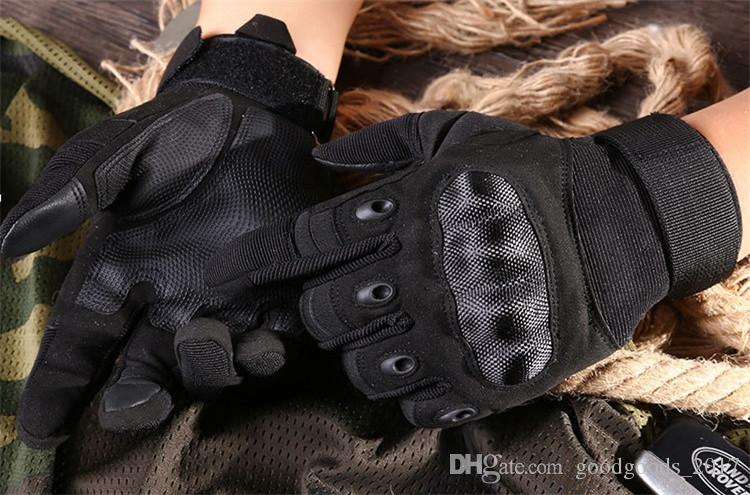 Tactical Gloves for Men Shooting Full Finger Gloves Outdoor Sports Paintball Carbon Hunting Hard Knuckle Gloves mk346