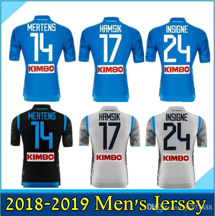 2018 2019 Napoli Home Blue Soccer Jersey 18 19 Naples Away Camiseta De  Fútbol Personalizada   14 MERTENS   17 HAMSIK   24 INSIGNE Tercer Uniforme  De Fútbol ... 8b8e8285a83e7