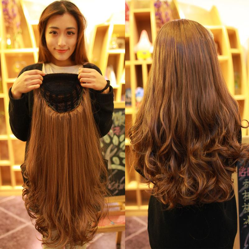 2019 Periwig Half Wig Female Long Curly Hair Big Wavy Fluffy Pear