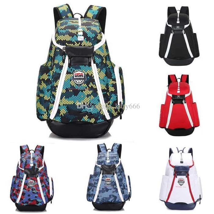 Basketball Backpacks New Olympic USA Team Packs Backpack Man's Bags Large Capacity Waterproof Training Travel Bags Shoes Bags DHL Free Ship