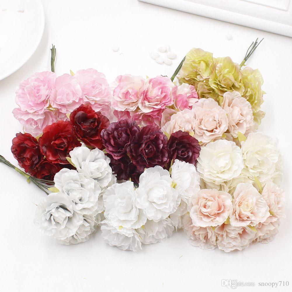 2018 3cm Silk Flower Artificial Rose Flowers For Wedding Decoration
