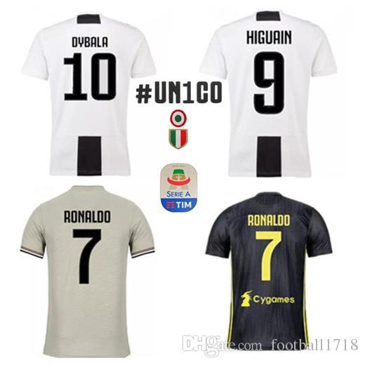 18 19 Camiseta De Fútbol Juventus Jersey RONALDO Camiseta 2018 2019 Juve  Camiseta De Fútbol DYBALA HIGUAIN MANDZUKIC D. COSTA MARCHISIO   UN1GO  BUFFON Por ... 8860e427ed43e