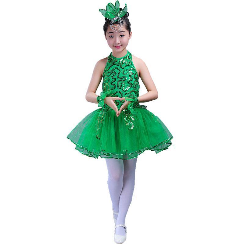 0a5e5d244 2019 Green Girls Ballet Dress For Children Girl Jazz Dance Costumes For  Girls Dance Dress Girl Performance Costume Stage Dancewear From Lbdapparel,  ...