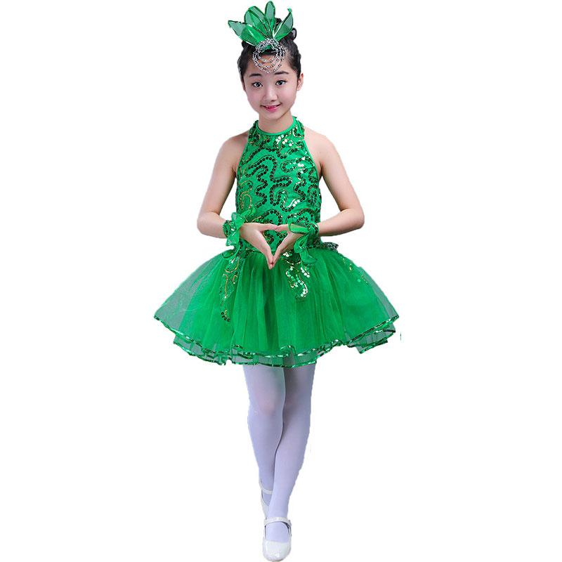 Compre Green Girls Ballet Dress Para Niños Girl Jazz Dance Disfraces Para  Niñas Dance Dress Girl Performance Traje Etapa Dancewear A  20.34 Del  Lbdapparel ... 68fd1a09088