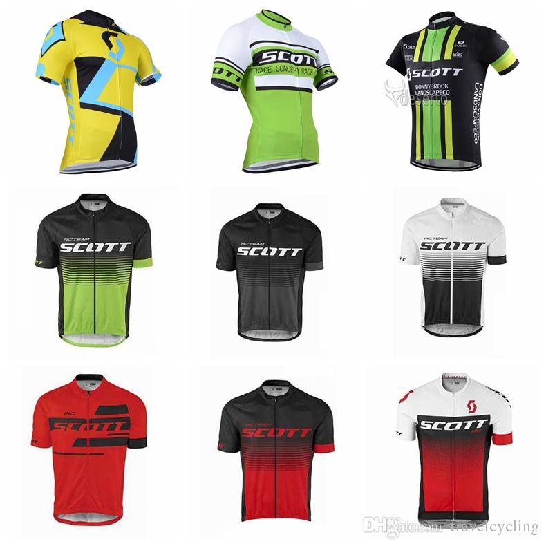 SCOTT Men Cycling Jersey Maillot Ciclismo New Team Cycling Wear Road Bike  Clothing Short Sleeves Bicycle Shirt Mtb Sportswear 92121Y Bicycle Pants  Cycle ... b9cb9ae6f