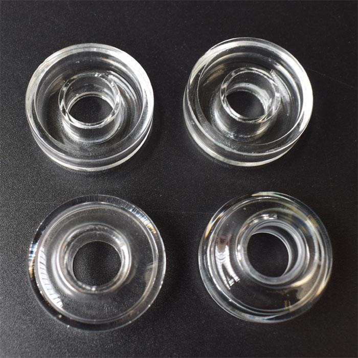 DHL New Type OD 22mm 25mm Quartz Dish 100% Real Quartz Replacement For Hybrid Titanium Nail Quartz Nail For Oil Rig Bongs