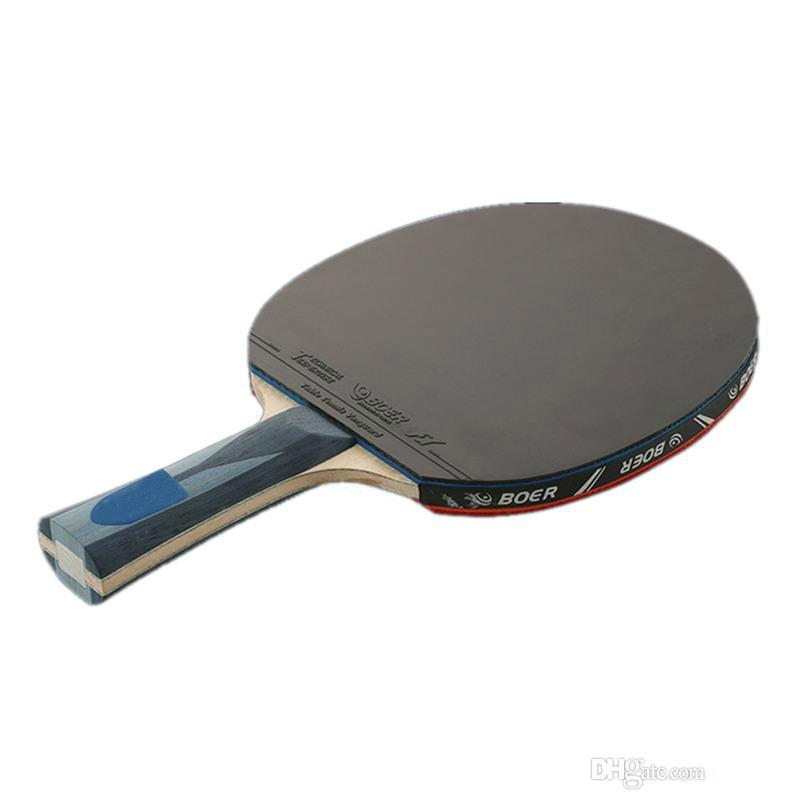 724f6d277 Compre Durável Raquete De Tênis De Mesa Ping Pong Remo Longo   Curto Punho  Profissional Carbono Raquete De Tênis De Mesa Com 3 Bolas 2526002 De  Yushui11