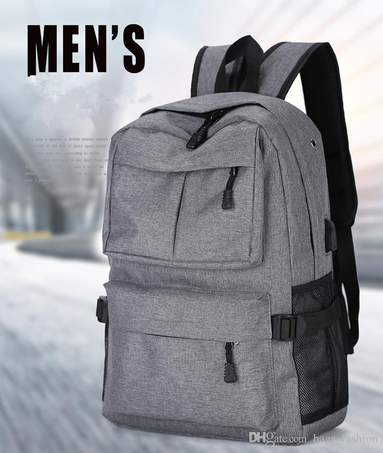9baf8a207e40 Brand External USB Charge Laptop Backpack Anti-theft Notebook Computer Bag  22 inch for Business Men Women Best Gifts 4 styles Free Shipping