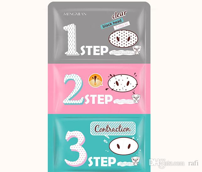 Summer Care Pig Nose Clear Black Head Perfect Sticker 3 steps Clear Black Head Masks Peels Blackhead Remover