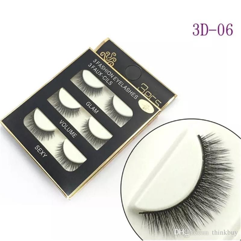 3D Mink Hair False eyelashes 16 Styles Handmade Beauty Thick Long Soft Mink lashes Fake Eye Lashes Eyelash Sexy aa201-208 2018010601