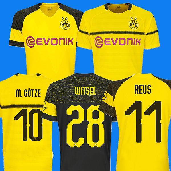 Borussia Dortmund Campeón De La Liga 18 19 Camiseta De Fútbol REUS Camiseta  De Fútbol PULISIC KAGAWA BATSHUAYI GOTZE Camiseta 2018 2019 SANCHO Maillot  Por ... 98239d5128453