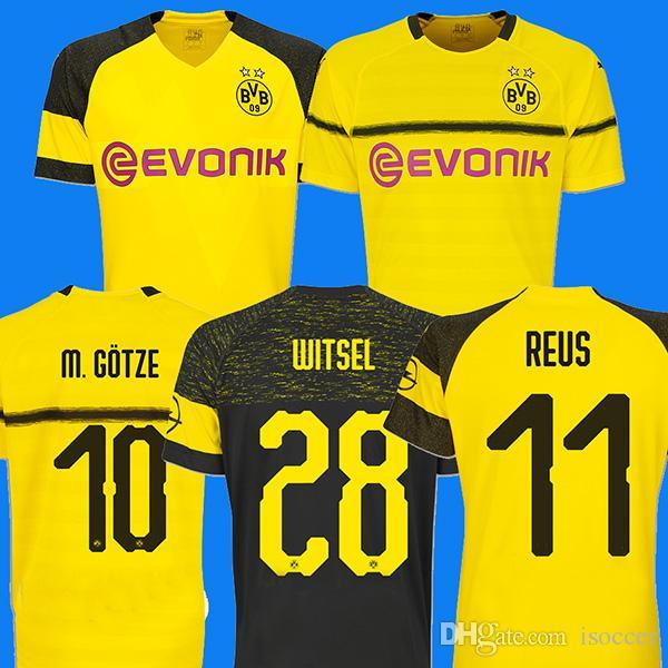 Compre Borussia Dortmund Campeão Campeão 18 19 Camisa De Futebol Camisa De  Futebol REUS PULISIC KAGAWA BATSHUAYI GOTZE Camiseta 2018 2019 SANCHO  Maillot De ... 593cfd4e6a8f2