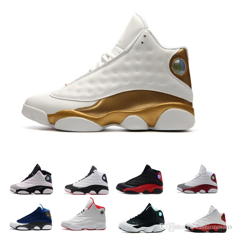 low priced 80e74 702ca 13 13s Mens Basketball Shoes 3M GS Hyper Royal Blue Bordeaux Flints Chicago  Bred DMP Wheat Olive Ivory Black Cat Man Sports Sneakers Basketball Shoes  Shoes ...
