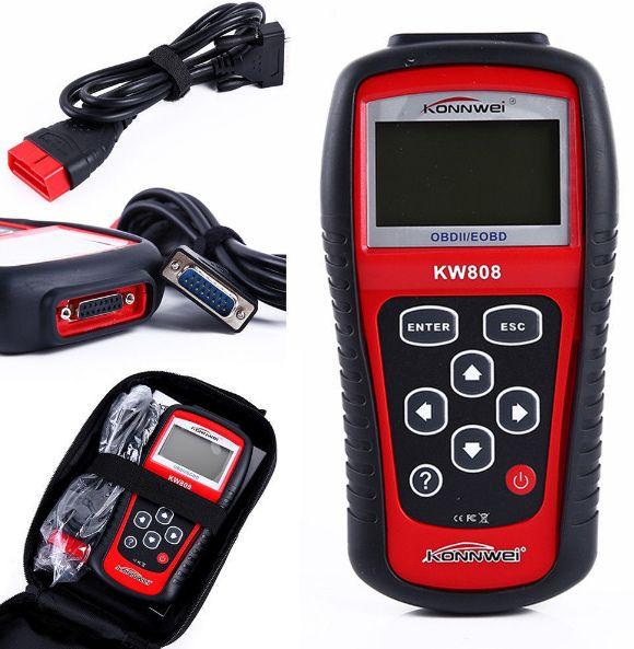 Konnwei OBDII EOBD OBD KW808 Car Code Reader Tester Diagnostic Tool MS509 Code Scanner Auto OBD2 Scanner