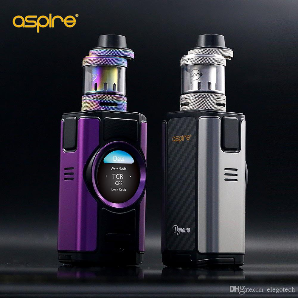 100% Authentic Aspire Dynamo 220W TC Kit with Nepho Tank Atomizer 4ml &  Round 2-inch TFT Color Display E-cigarette Kits with Retail Package