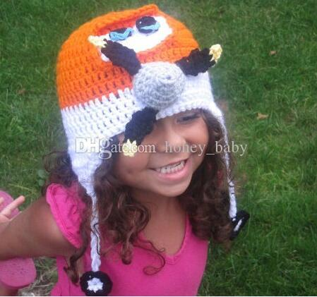 0a9b4e08c4d 2019 Crochet Super Wings Knitted Plane Caps Newborn Infant Toddler Baby Boys  Girls Headwear Christmas Hat Children Kids Beanie Cotton Photo Props From  ...