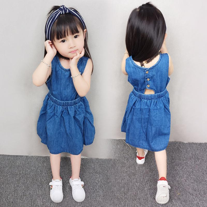 7a97743d2a Girls Dresses Summer Dress New Children Baby Vest Dress 3-4 Years ...