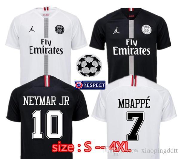 Larger Size XXL XXXL 4XL 2018 2019 Champion League Psg Jordam Soccer Jersey  18 19 MBAPPE CAVANI POGBA VERRATTI DI MARI Paris Football Jersey Online  with ... 287b562ca