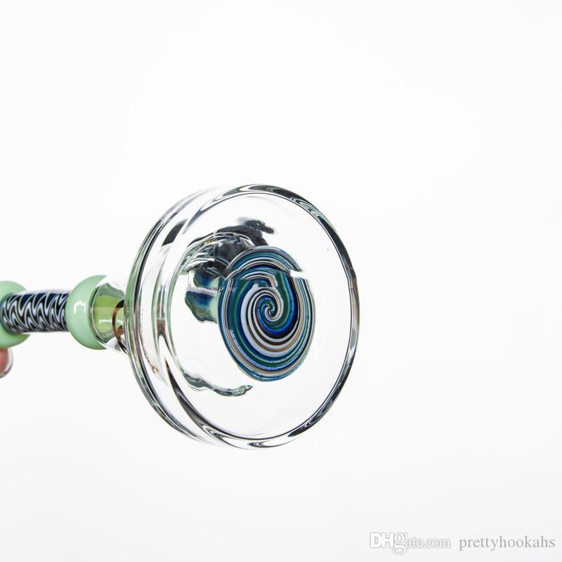 Tubi di acqua di dimensioni comuni di 14,5 mm Tubi di pipa di fumo di 8 pollici Tubi di plastica Percy di fumetti da 8 pollici