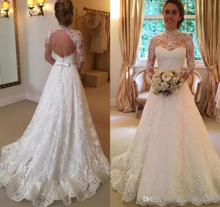 Vestidos de novia de cuello alto