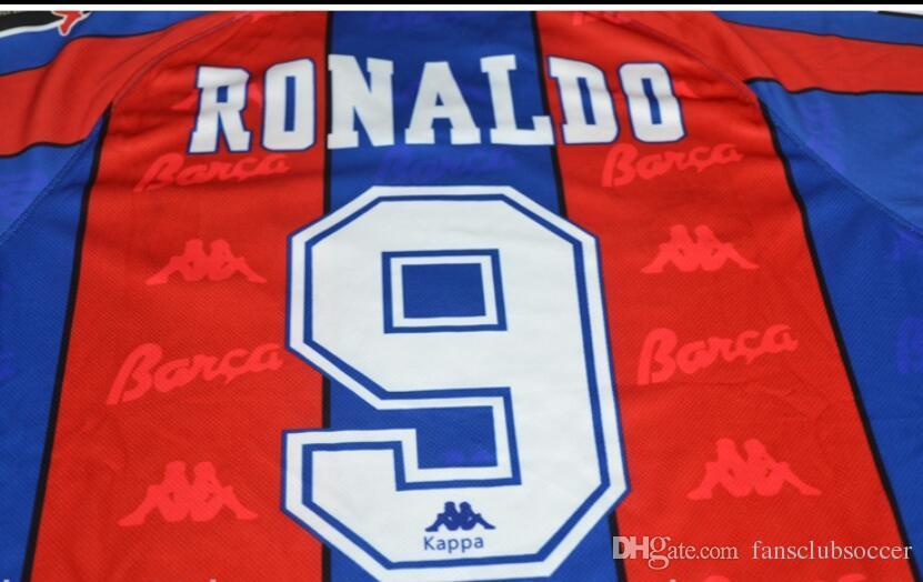 ea0d2747f98 Thai Quality Barcelonad 96 97 Retro Soccer Jersey Spain RONALDO Football  Shirts 1996 1997 MAILLOT DE FOOT Thailand Quality Uniforms Football RONALDO  Retro ...