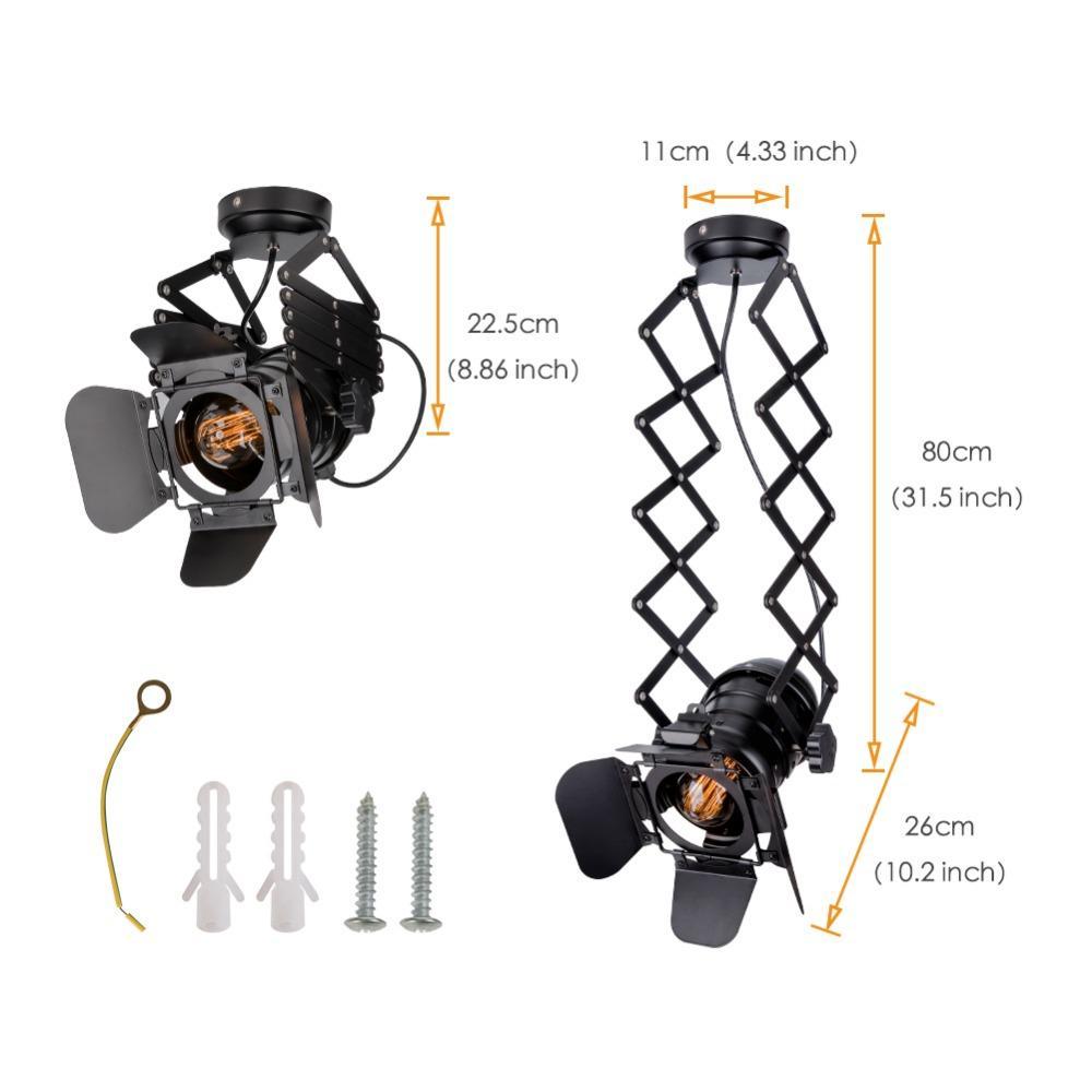 Loft Industrial Track Pendant Light Spotlight Black Modern Track Lights Clothes Store Hanging Lamp E27 Base Living Room Bedroom
