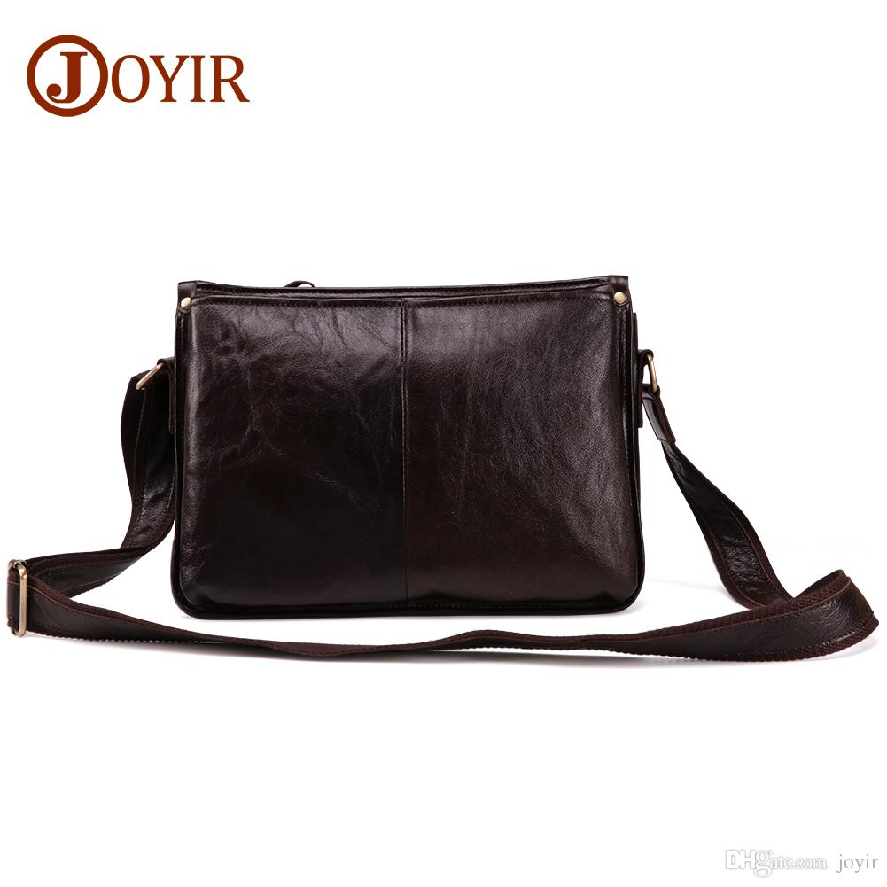 0e0853440b83 Wholesale Genuine Cow Leather Messenger Bags Flap Casual Men Solid Handbags  Famous Brand Small Male Shoulder Crossbody Bags For Men Vintage Handbags  Black ...