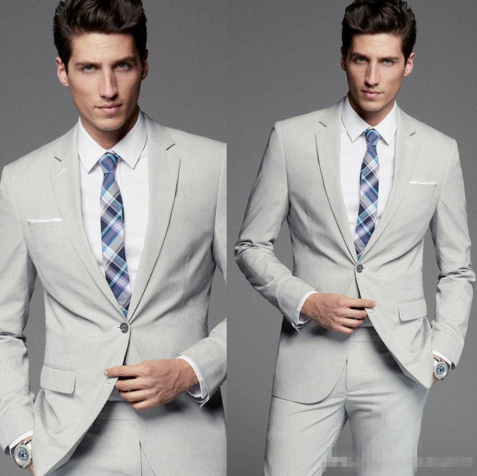 Acheter Custom Made Fashion Groom T Shirts Argent Groom Tuxedos Meilleur Homme  Costume De Mariage Gentleman Costumes Pour Homme Deux Pièces Blazer Veste +  ... 6056cdacf20