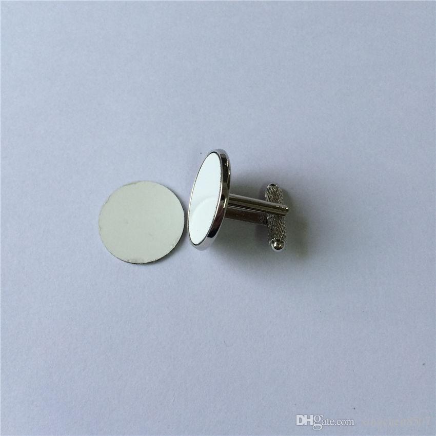 Manschettenknöpfe für Krawattenklammern für Sublimationsrohling Manschettenknöpfe mit Gewindestangen für den Wärmetransferdruck personalisierter Verbrauchsartikel für Großhandelsverkauf