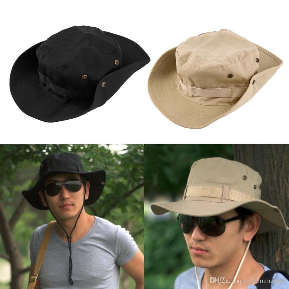 a69f3629d95 2019 Bucket Hat Boonie Hunting Fishing Outdoor Wide Cap Brim Military  Unisex Perfect Bucket Hat Boonie Hunting Fishing Outdoor Wide Cap Brim Mil  From ...