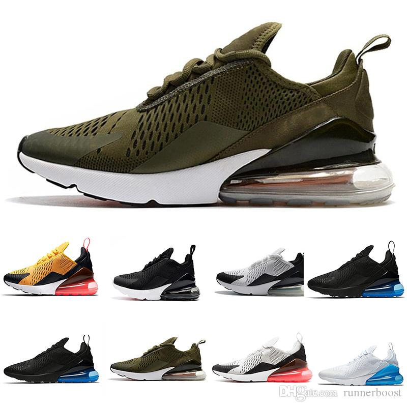 Wholesale Triple Black 270 high quality Men And Women 270 Trainer Sports Running Shoes Flair Sneakers Size 36 46