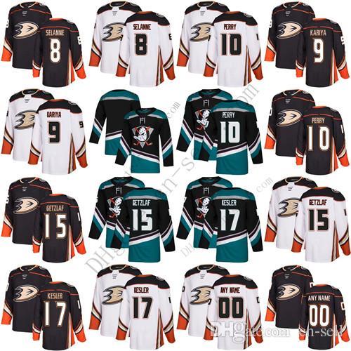 cc6d3619b Anaheim Ducks 9 Paul Kariya Teemu Selanne Corey Perry 15 Ryan ...