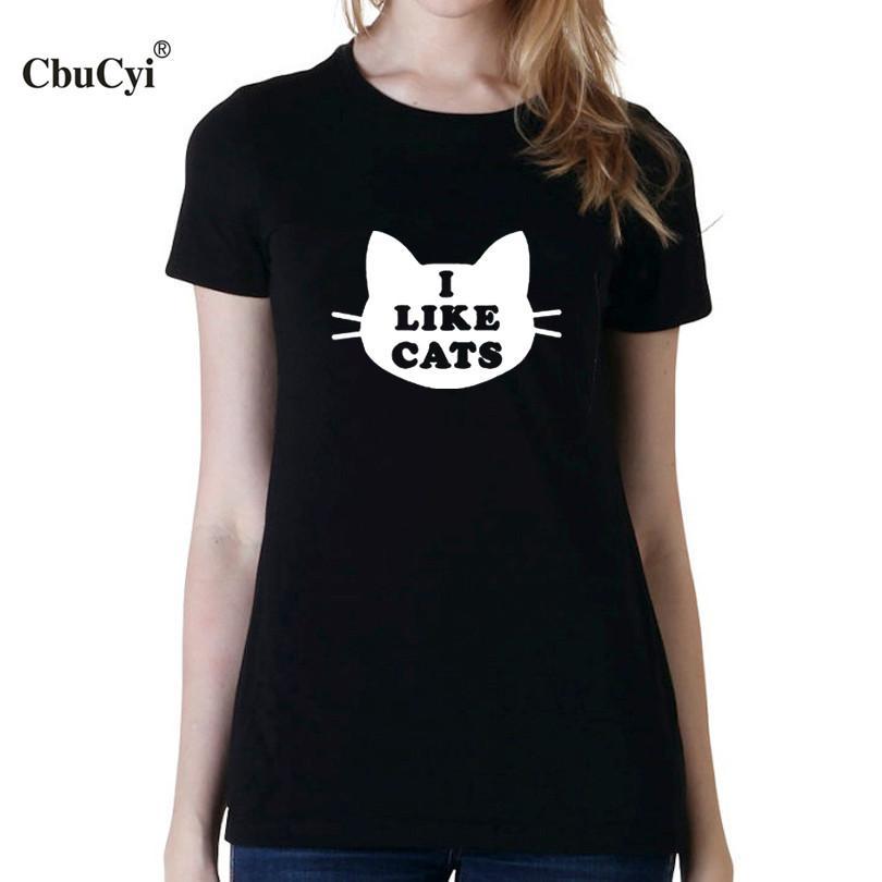 8f787558cce Acheter Tee Shirt Pour Femmes J aime Le Chat Drôle T Shirt Femmes Tumblr  Hipster T Shirts Mignon Femmes Blanc Noir T Shirt Femme De  11.41 Du  Sinleystore ...