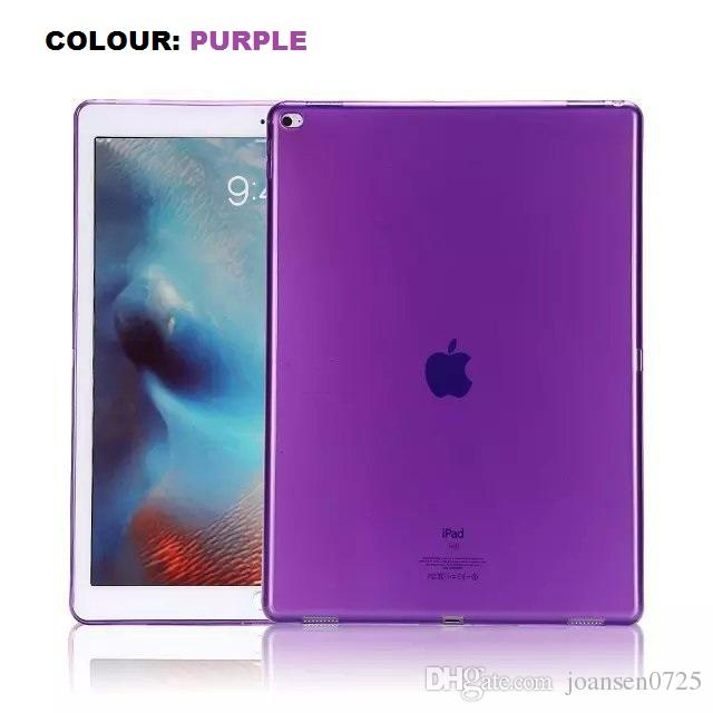 For iPad Mini 2 3 4 Case 8 Candy Colour Ultra Thin Clear Transparent TPU Back protective Covers Shell 9.7 inch iPad Pro Air 2