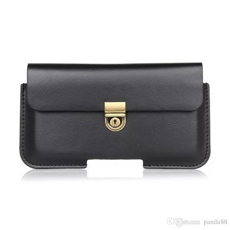 Universal PU Leather Belt Clip Pouch Cover Case for Leagoo T10/M8/M5 Plus