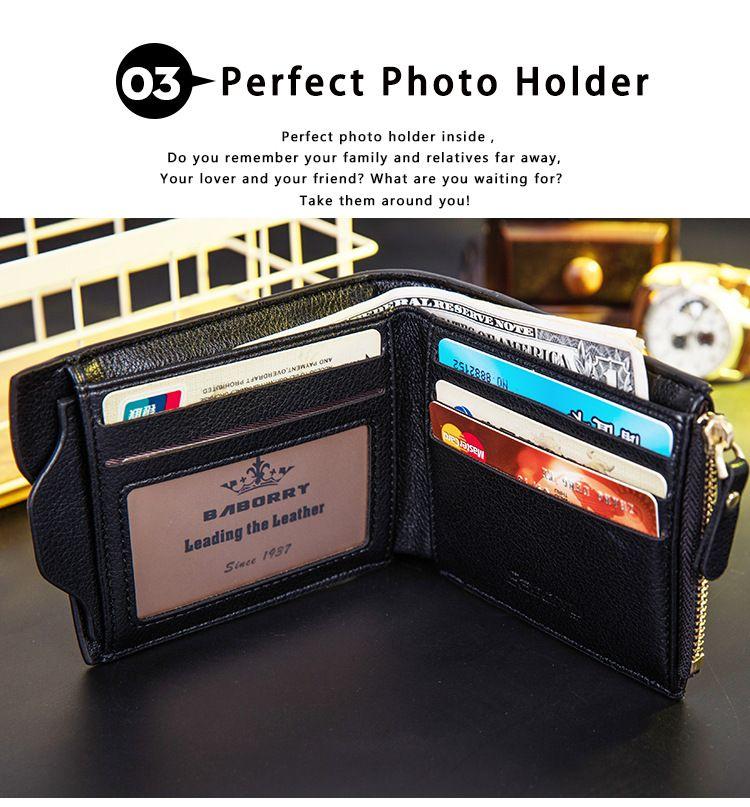 2018 New Design wallet Vintage Men Leather Brand Luxury Wallet Short Slim Male Purses Money Clip Credit Card Dollar Price