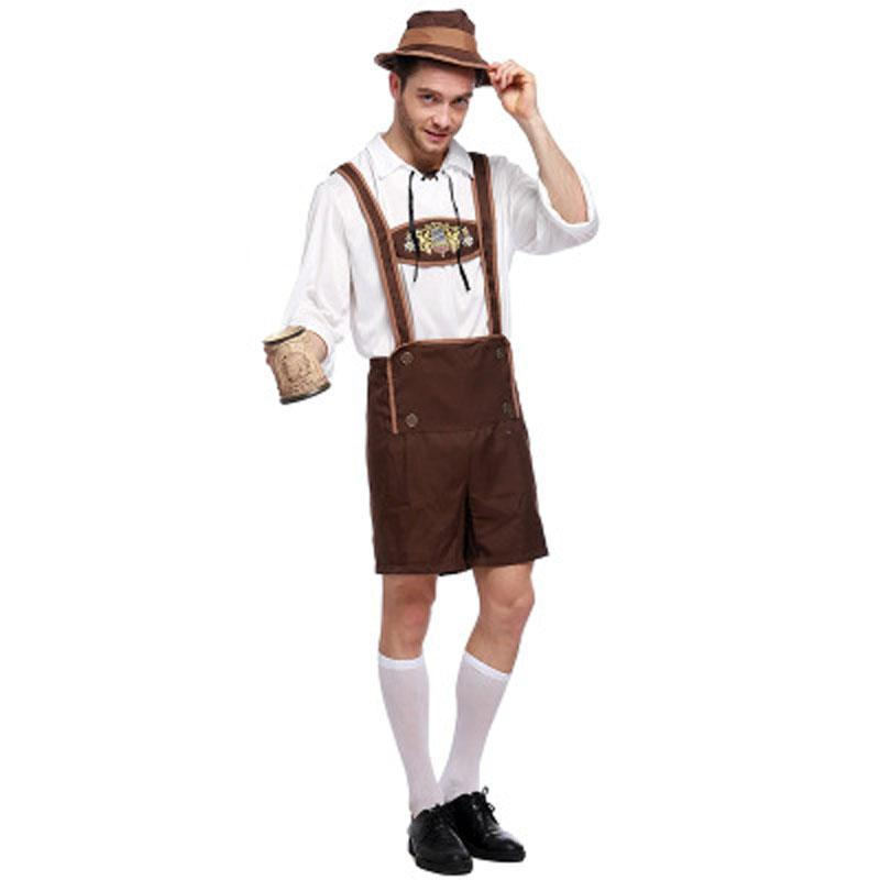 0d2b7a2a12 Three Piece Beer Boy Suit Halloween Oktoberfest Boy Costume Beer Male  Costume Cowboy Clothing German Beer Festival Clothing Costume Party Themes  For Kids ...