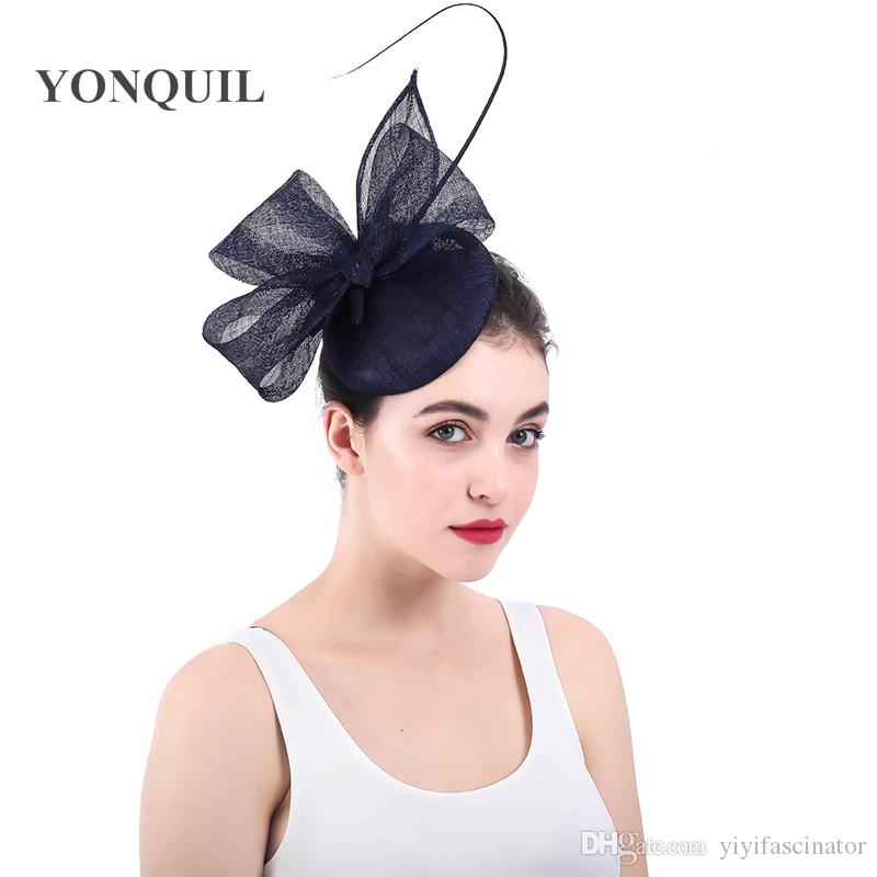 3cacd925a983c New Arrival Or Navy Fascinators Hats For Kentucky Derby Party Occasion Hair  Clips Church Hats Wedding Hair Accessories SYF298 Grey Wedding Hats Hat  Wedding ...