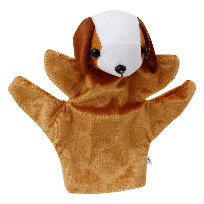 Funny Big Size Zoo Farm Animal Hand Glove Sack Puppet Hand Dolls Cute Big Size Finger Sack Plush Toy New arrival