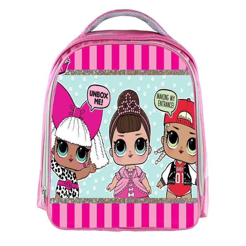 a0f612473e 13inch LOL Dolls Backpack Girls Cartoon Printed School Bags School Backpack  Bookbag Children Christmas Gift Customized Name Free Best Backpacks Girls  ...